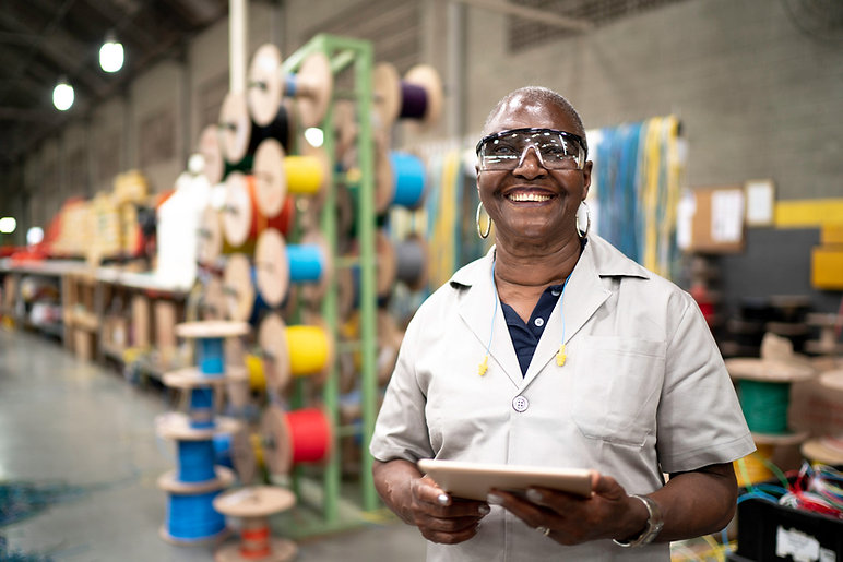 older-african-american-woman-employee-at