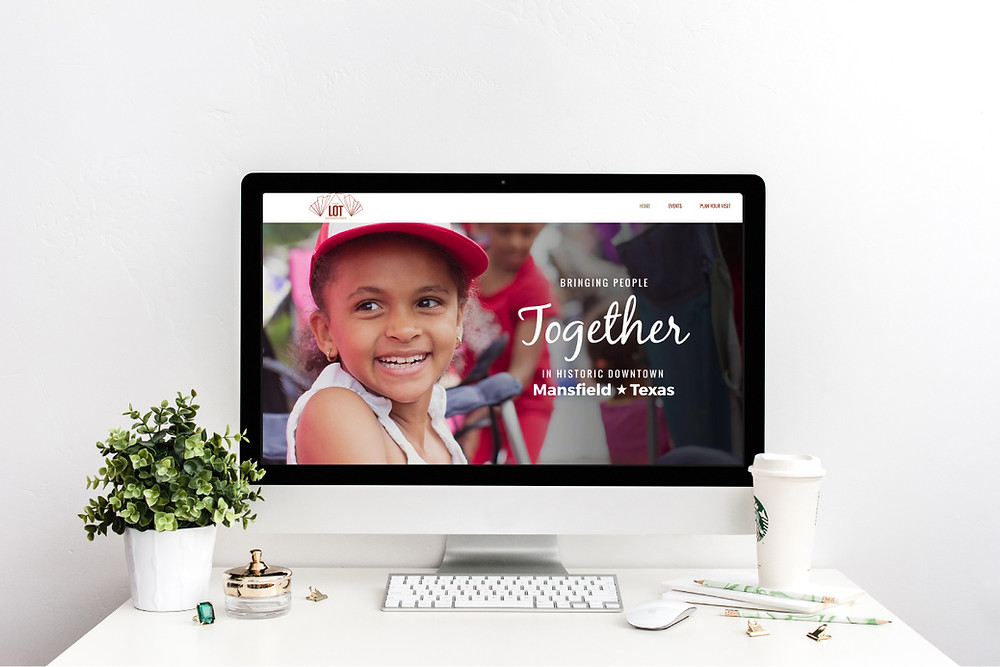 Desktop View of The LOT Downtown - Wix Website - Christy Evans Design