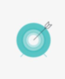 Illustration of arrow in bullseye