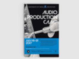 Christy Evans Design - Print Media - UTA Audio Production Camp Poster