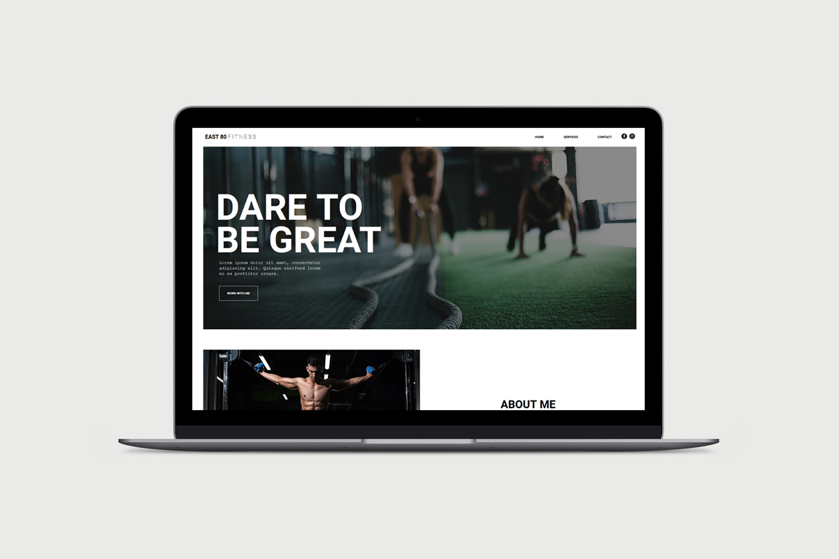 Personal Trainer Wix Template