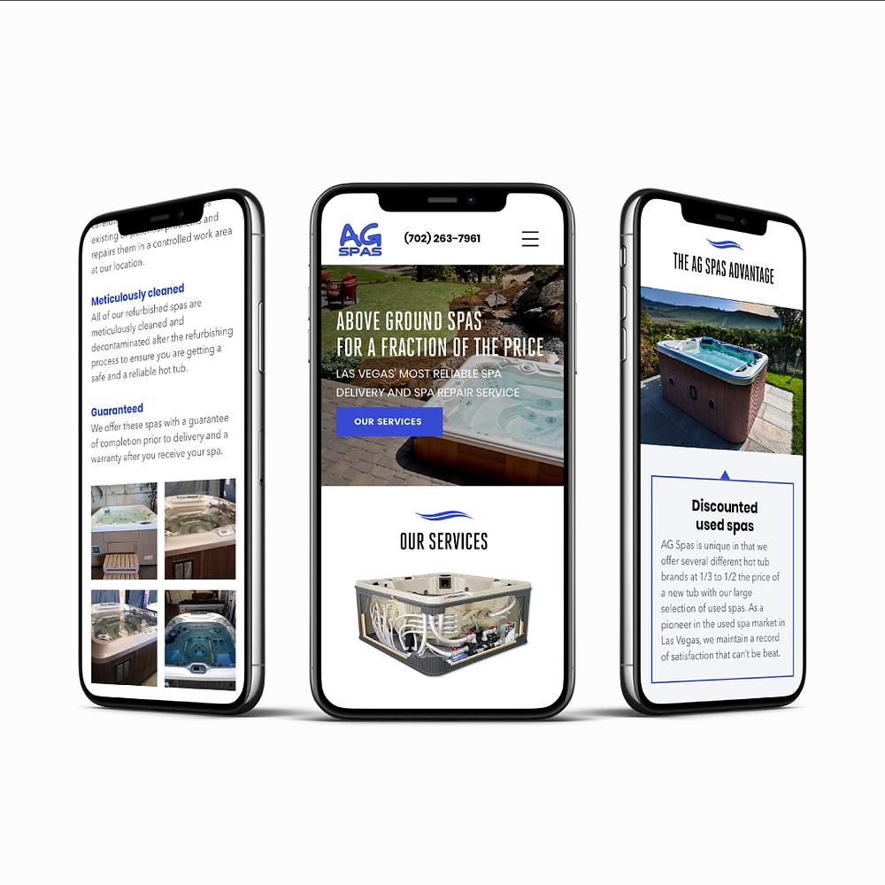 AG Spas - Wix Website - Responsive Mobile Design