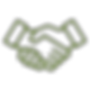 Icon of shaking hands indicating client focus