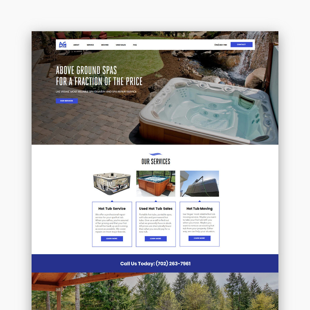 AG Spas - Wix site - Home Page