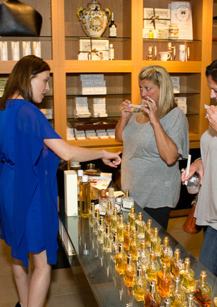 two-women-sampling-lafco-perfume-with-a-
