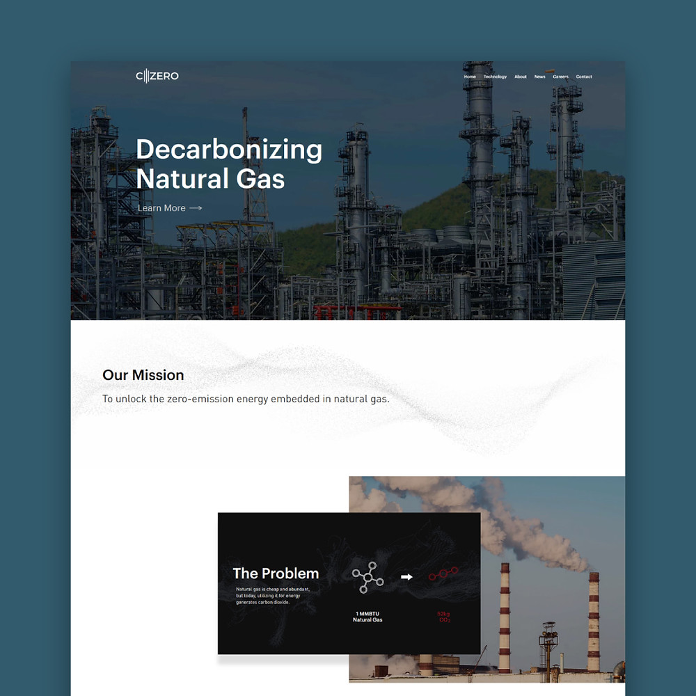 C-Zero - Wix Website Design - Christy Evans Design - Dallas/Fort Worth, Texas