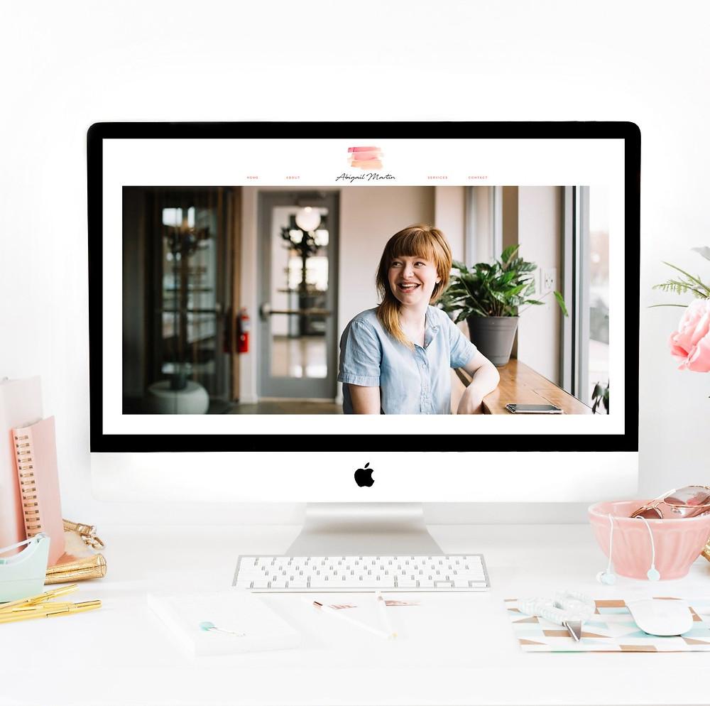 Christy Evans Design - Writer, Copywriter, Virtual Assistant Wix Mockup Website