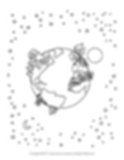 Author Alex Anzaone Free Bonus page - earth drawing