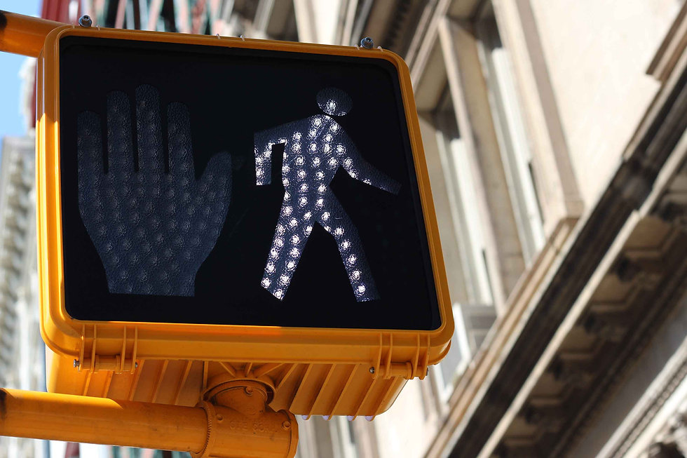 Electronic pedestrian intersection sign