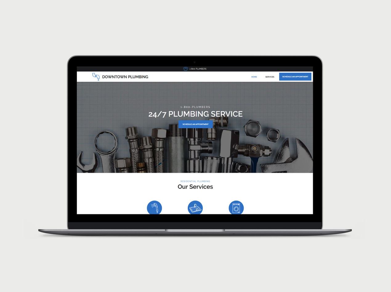 Plumbing Service Wix Template