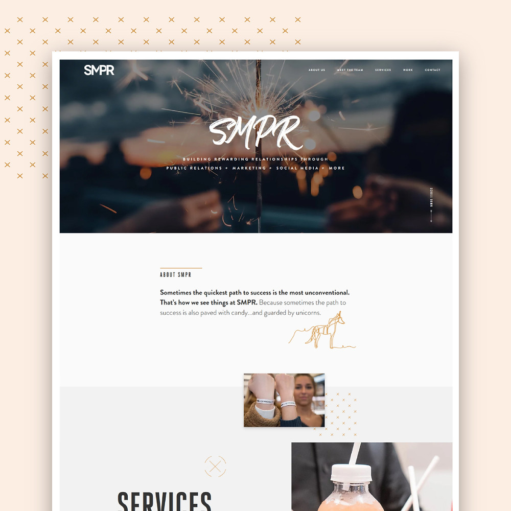 Home page of Wix Website for SMPR in Dallas, Texas