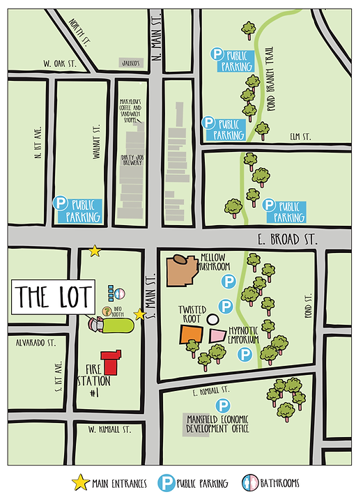 The LOT Downtown Parking Map