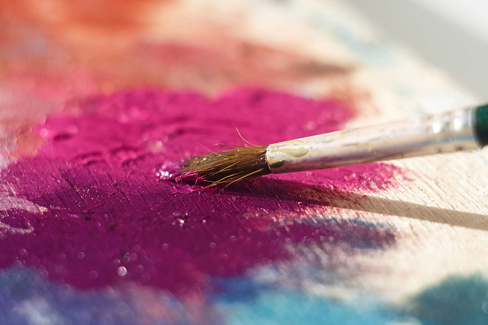 close-up-of-paint-brush-on-canvas-with-p
