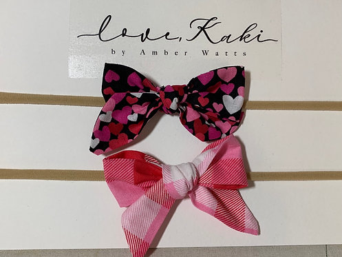 Printed baby bow on soft headband