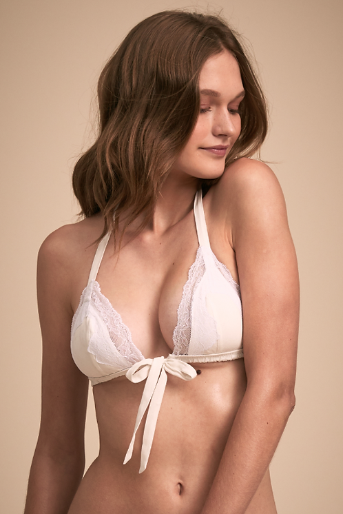 Abby Soft Tie Lace Bralette