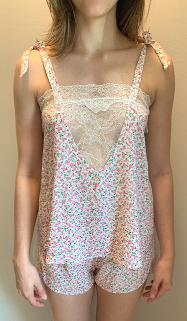 "Amelia Lace Cami in ""Pink Peony"""