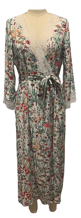 Floral haven Ember wrap robe