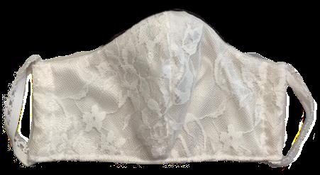 Bridal lace & silk mask