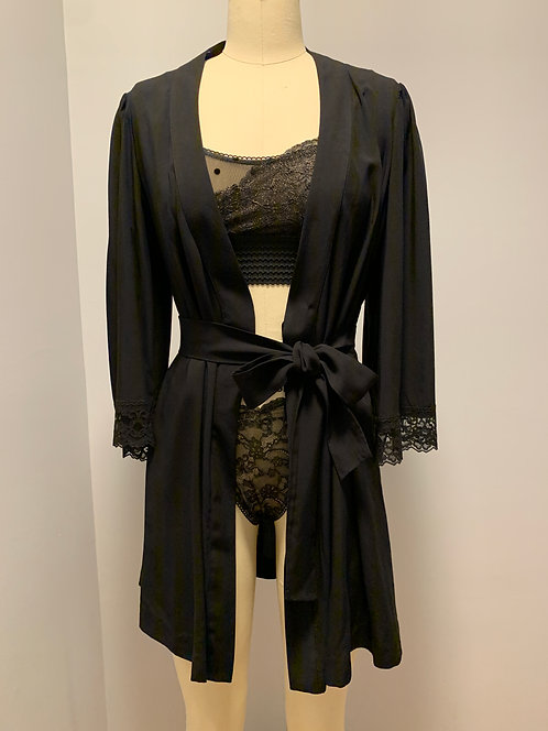 "Lacy bell sleeve robe in ""Beautifully Black"""