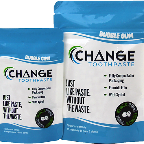 1 month Bubble Gum Change Toothpaste Tablets