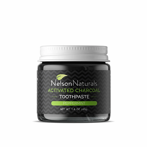 Nelson Naturals ACTIVATED CHARCOAL WHITENING TOOTHPASTE 45G