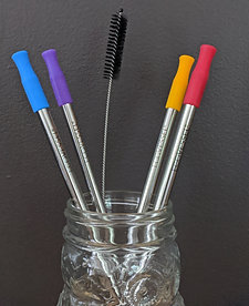 Stainless Steel Straws. Set of 4