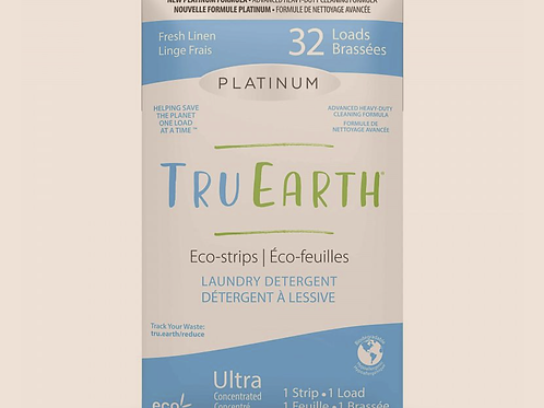 Tru Earth Eco-strips Platinum Laundry Detergent Fresh Linen scent - 32 Loads