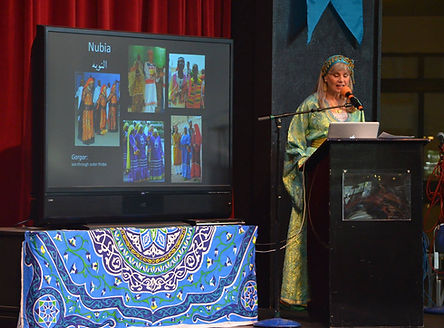 Zulaika's presentation about Arab traditional clothing at Seattle Arab Fest