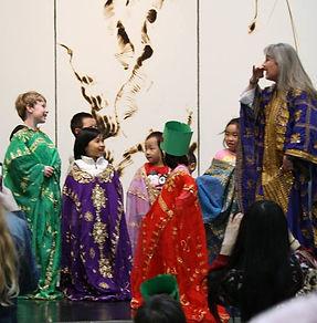Zulaika teaches Khaliji dance to children