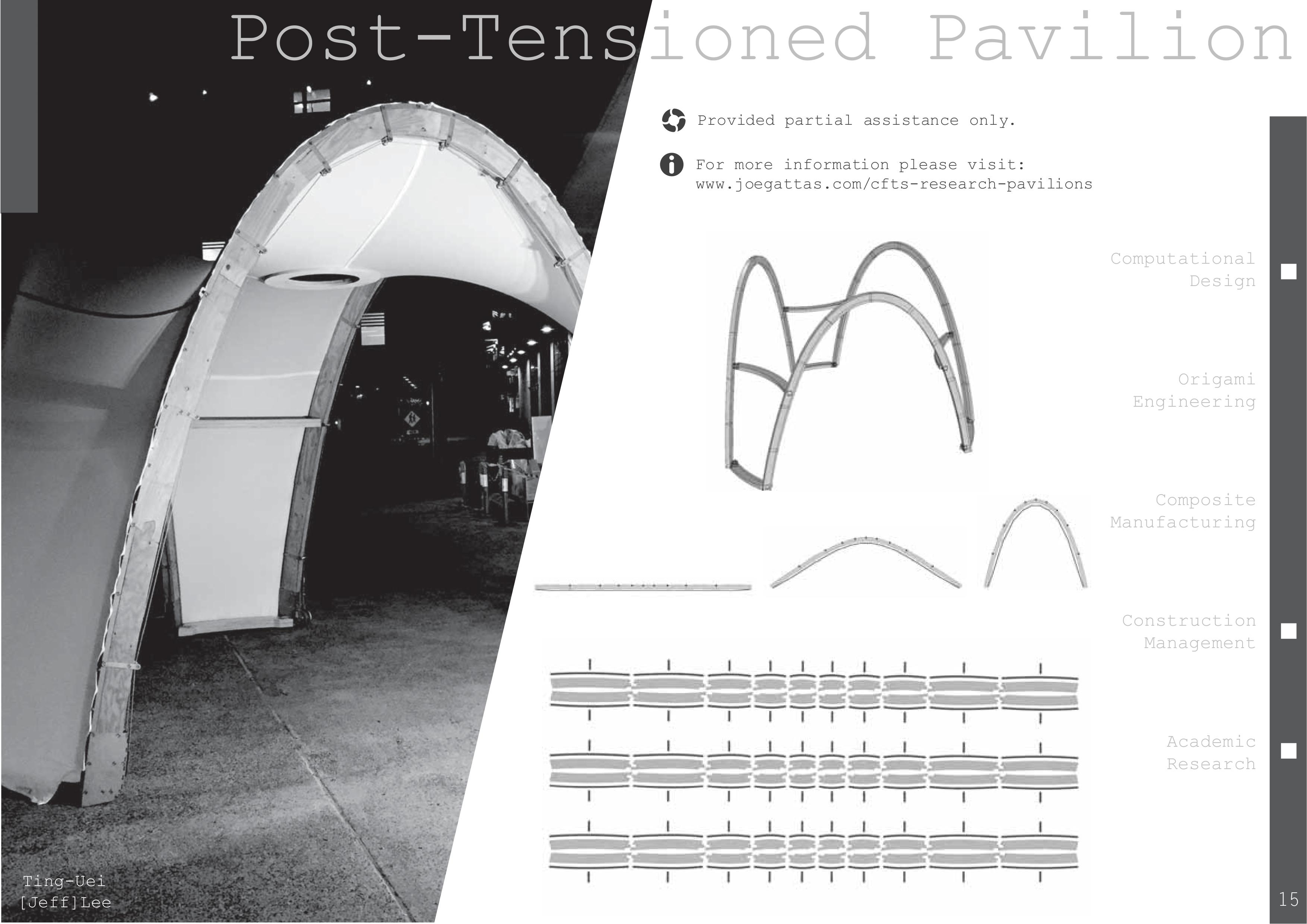 Post-Tensioned Pavilion