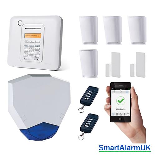 Visonic Powermaster-10 PG2 Wireless Alarm Kit 4 inc Broadband Module (868-1 UK)