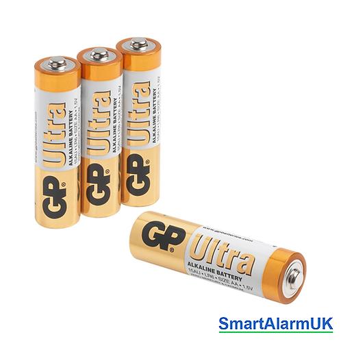 4 x Alkaline Batteries for Visonic Wireless Keypads.