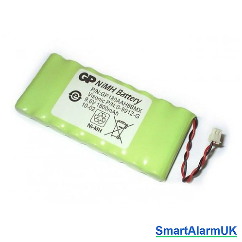 9.6v 1800mAh NiMH Battery for Powermax/ Powermaster Control Panels (9912-G)