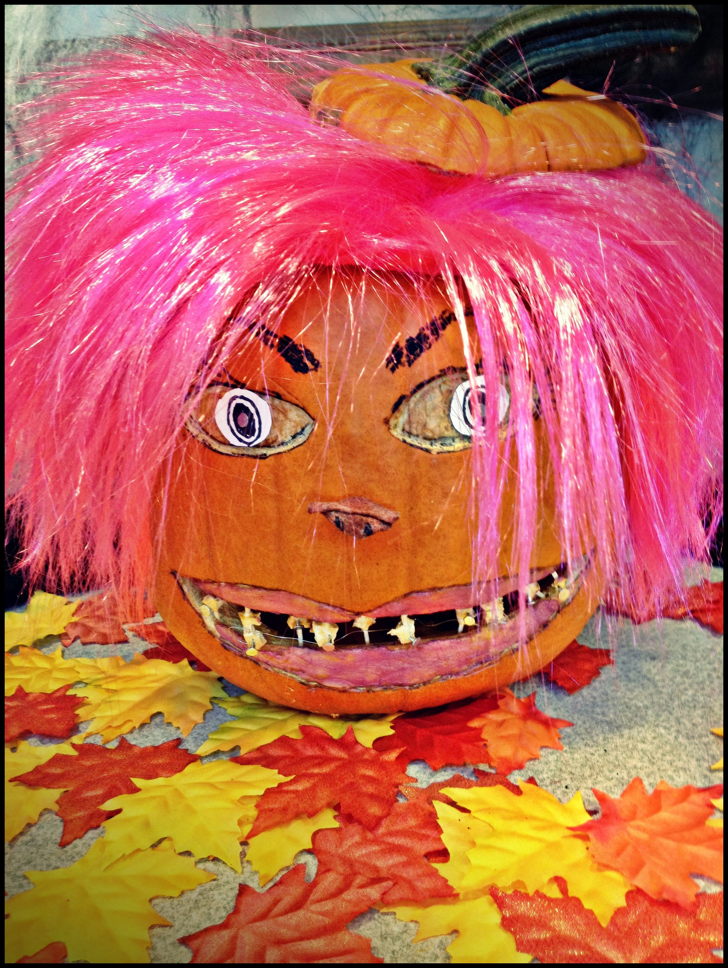 Pamela Pumpkin needs dental work!