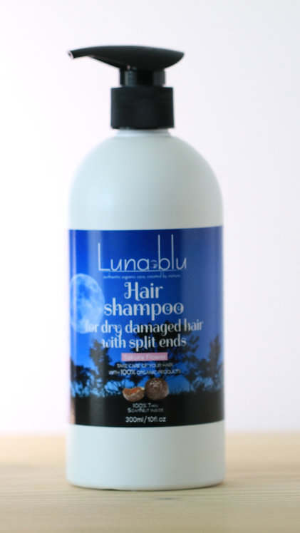 Organic Shampoo to help dry damaged hair with split ends-300ml