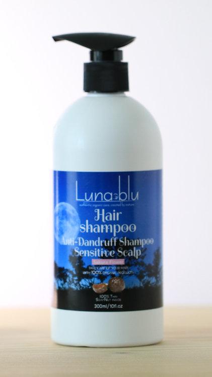 Organic Hair Shampoo- dandruff and sensitive scalp 300ml