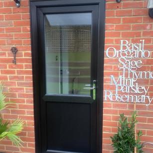 Black PVC Back Door