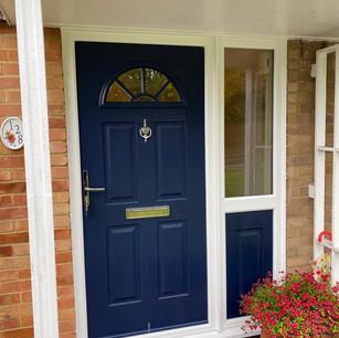 Composite Door with Sidelight