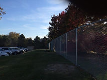 6 foot tall temporary chain link fence using driven posts