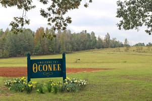 Oconee Welcome Sign