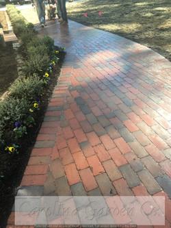 beautiful brick pathway