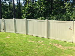 A blank fence becomes...