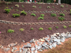 After! With both walls & plants in, time & water will make this landscape beautiful for years to com