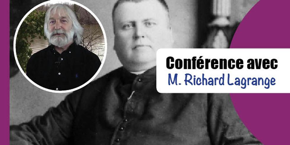 CONFÉRENCE avec Richard Lagrange (Antoine Labelle, prêtre-colonisateur 1833-1891)