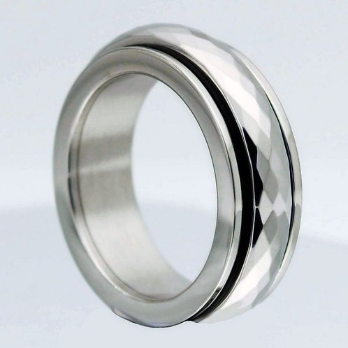 Silver Diamond Cut Spinner