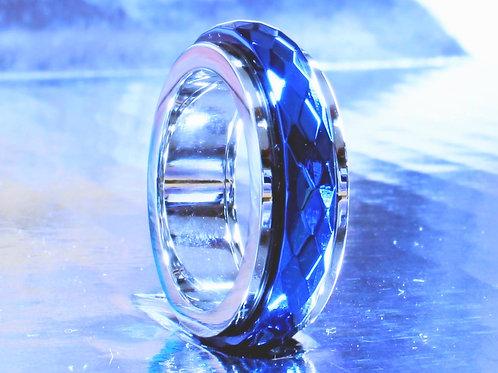 Diamond Cut Blue Spinner