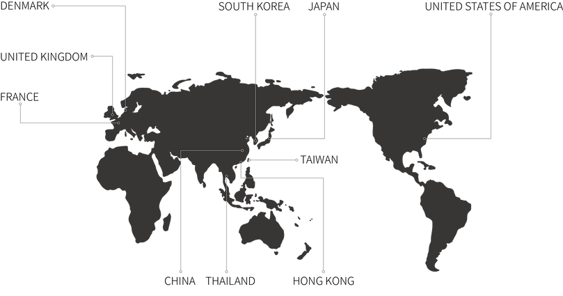 TA+d's distributors worldwide