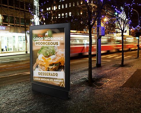 Desserado Erfurt Plakat Werbekampagne Lo