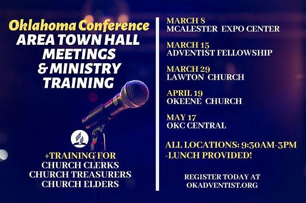 REGIONAL TOWN HALL MEETINGS & MNISITRY T