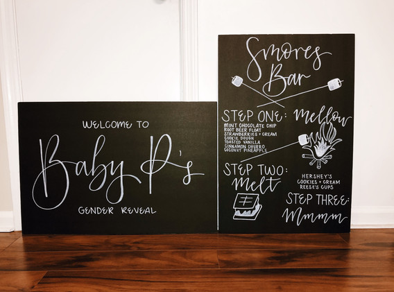Baby Shower Welcome Sign and Smore's Bar